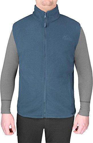 Herren Übergangsweste Fleeceweste mit Einschubtaschen und Stehkragen Farbe Navy Größe XL