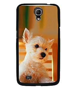 FUSON Designer Back Case Cover for Samsung Galaxy Mega 6.3 I9200 :: Samsung Galaxy Mega 6.3 Sgh-I527 (Cute Puppy dog White Hairy Crazy look Cat )