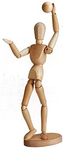 artdee Modellpuppe / Gliederpuppe magnetisch, 30 cm , unisex aus Holz inkl. Kugel