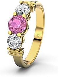 Ring Goldring 22 Karat vergoldet Verlobungsring Ehering Strass Stein Altin Yüzük