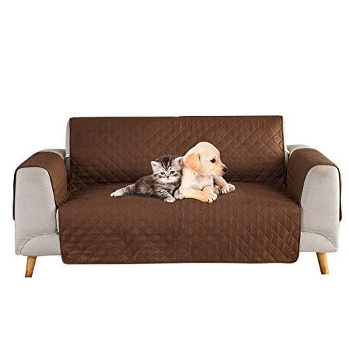 Petyoung Funda de sofá para Mascotas, Perros, Gatos, Fundas Protectoras de Muebles con Correa elástica, niños, Perros, Gatos, Asiento de sofá y sofá, Lavable a máquina