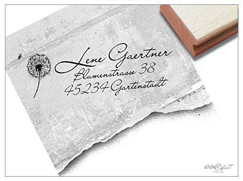 ler Adressstempel Pusteblume II, Familienstempel personalisiert Adresse Geschenk zum Geburtstag - zAcheR-fineT ()