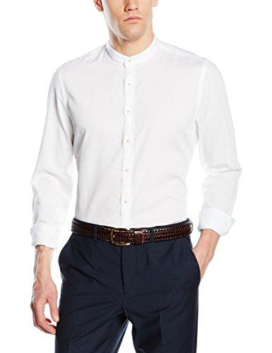 Marc O'Polo Herren Hemd M21766842266, Weiß (White 100), Large (Collar White Manschette-hemd)