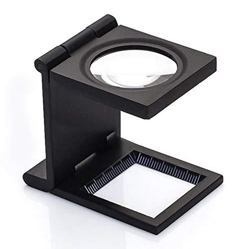 EPNT Faltbare Lupe mit 12-facher Vergrößerung, Lupa, optische Linsen, Schreibtisch-Lupe