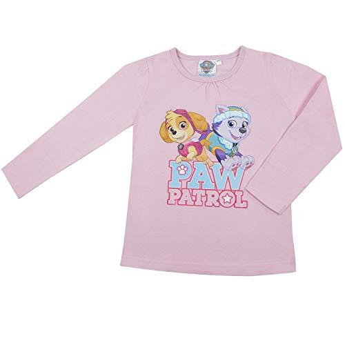 Paw Patrol Girl Pullover AUSWAHL Langarm Shirt T-Shirt Sweatshirt (122/128, Rosa)