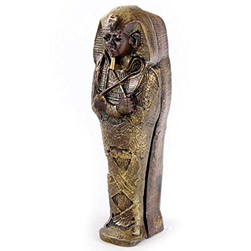 Cada estatua egipcia ï? 1⁄ 2fabricada en resina y acabado con colores bronce antiguo y acabados dorados y contiene en su interior una momia acabada en los detalles cada momia con sarcofaco ï? 1⁄ 2vende individualmente.