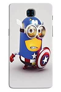 Omnam Minion In Avenger Dress Printed Back Cover Case For OnePlus Three