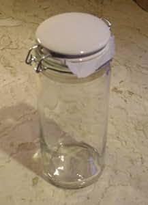 Vorratsglas, 1500 ml, mit Deckel, Keramik