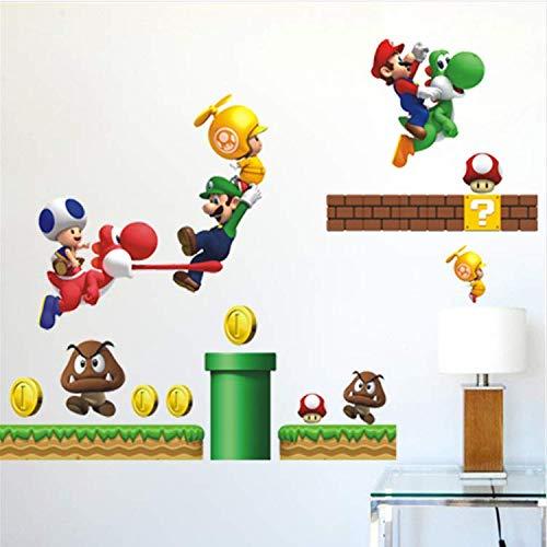 WUDHF Cartoon Spiel Super Mario Wandtattoos Für Schlafzimmer Startseite Wandkunst Dekor DIY PVC Aufkleber Kinder Geschenk