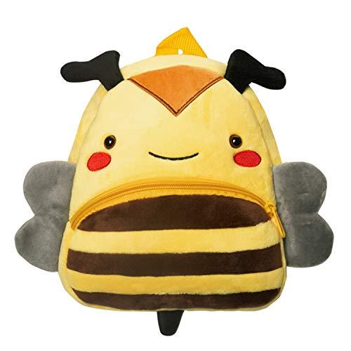 Cassiecy Plüsch Tier Kinder Rucksack Netter Cartoon Einsteigerrucksack Kinder Tasche für Baby Jungen Mädchen 1-3 Jahre (Biene) Baby-jungen-tasche