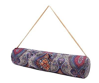 Kleine Yogatasche »Rukmini« von #DoYourYoga aus 100% Baumwoll-Canvas (Segeltuch), sehr schön verarbeitet, für Yoga- und Pilatesmatten bis zu einer Größe von 186 x 62 x 0,3 cm, in 12 ausgefallenen Designs erhältlich.