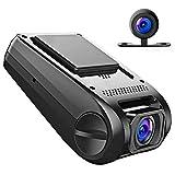 apeman C550 Autokamera Dashcam Full HD versteckte DVR Dual Lens 170 ¡ã Weitwinkelobjektiv GPS kompatibel mit G-Sensor, Automatische Loop-Zyklus Aufnahme, Bewegungserkennung