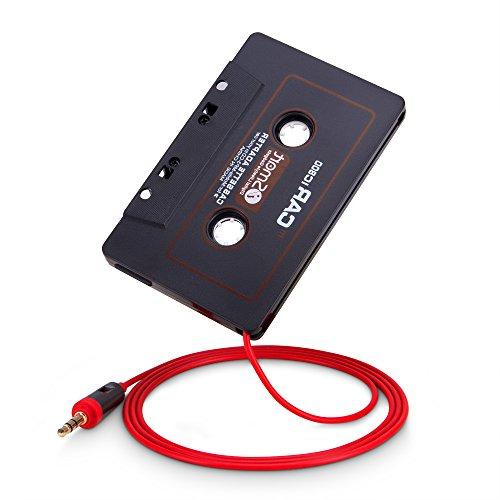 PhoneStar Autoradio Kassetten Adapter 3,5mm AUX Klinke für iPhone, , Samsung, Sony, Huawei, iPod, MP3-Player, Smartphones