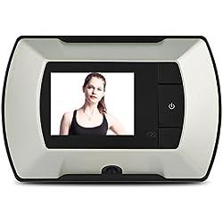 Eboxer Caméra Judas Numérique Caméra Vidéo de Porte 2,2 Pouces Ecran LCD Objectif 150 ° Grand Angle HD 300 000 Pixels pour Maison