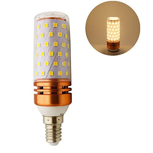 LED Mais Glühbirnen E14 16W Entspricht 150W Glühbirnen Nicht dimmbar 3000K Warmweiß Licht 1500 lm Kleine Edison-Schraube Kerze Leuchtmittel (1er-Pack) - Watt-kandelaber-sockel Licht Lampen