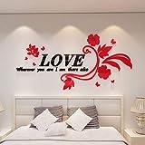 3D stereoskopische Wandaufkleber, Acryl Schlafzimmer, Nacht Dekoration, Wohnzimmer Sofa Hintergrund Wand Layout, romantische Hochzeit Raum Layout, 001 Rattan - richtige Version - schwarzes Wort großen Safran, in