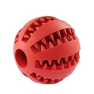 Jouet balle à mâcher pour chien dents de nettoyage dentaire Friandises non toxique résistant aux morsures Durable caoutchouc Jouet pour chien Balle rebondissante pour la mastication/formation/Jouer