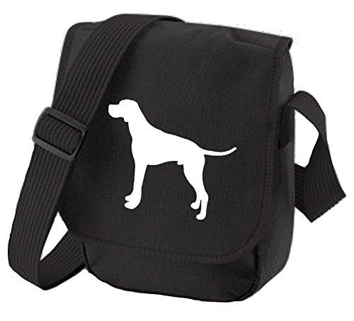 Bag Pixie - Borsa a tracolla unisex adulti White dog Black Bag