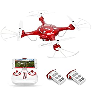 Syma X5UW Wifi FPV Drone 720P HD Camera Quadcopter RC RTF Drone with Altitude Hold Function One Key Take Off/Landing Drone from Syma