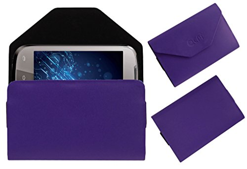Acm Premium Pouch Case For Lava Xolo A500 Flip Flap Cover Holder Purple  available at amazon for Rs.329