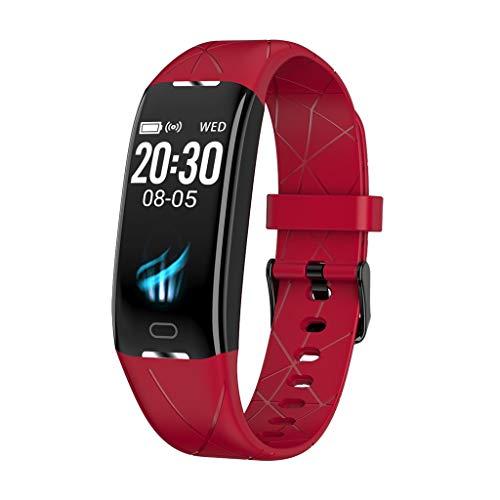 ALeis Fitness-Tracker mit Herz-Monitor, Smart-Watch, Blutdruck-Herzfrequenz-Monitor, Schlaf Sport Fitness Tracker, rot