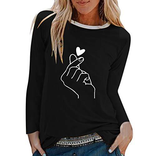 TEFIIR Sweatshirt für Damen, Oktoberfest, Leistungsverhältnis Lässige Lips Print Shirts O-Ausschnitt Langarm Tops Lose T-Shirt Bluse Geeignet für Freizeit, Dating und Urlaub