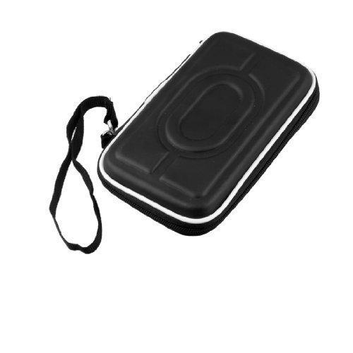 """Preisvergleich Produktbild sourcingmap® 2.5"""" SATA HDD Festplatte Mit reißverschluss Plastikhülle Tasche Tragen Hülle Schwarz"""