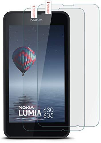 moex 2X 9H Panzerfolie für Nokia Lumia 630 | Panzerglas Bildschirm Glasfolie [Tempered Glass] Screen Protector Glas Bildschirmschutz-Folie für Nokia Lumia 630/635 Dual SIM Schutzfolie