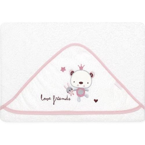 pirulos 00712314–maxicapa, Design Love Friends, 100x 100cm, rosa/weiß