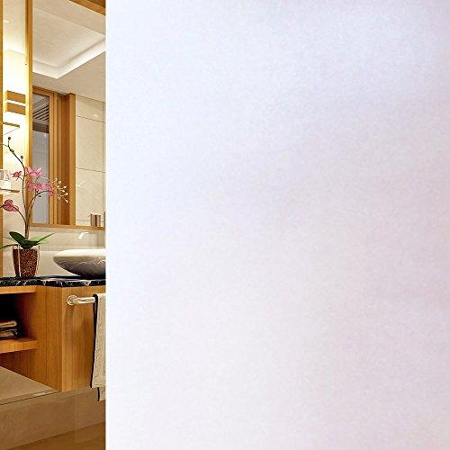 DUOFIRE Vinilo para Ventana de Privacidad Vinilo de Ventana Esmerilada Decorativa del Película de Ventana Autoadhesiva Sin Pegamento Película para Vidrio Anti UV (60cm X 200cm, DS001W)