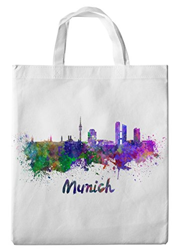 Einkaufstasche/Tragetasche / Shopper/mit Henkeln - 38x42cm - Motiv: Bayern München Silhouette - 05