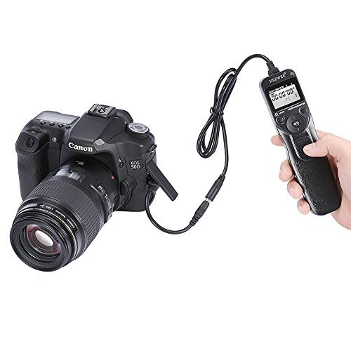 NEEWER Shutter Release Timer Remote Control Cord For Canon EOS 550D/Rebel T2i 450D/XSi 400D/XTi 350D/XT 300D 60D 600D 500D 1100D 1000D 1D 1D Mark II 1D Mark II N 1D Mark III 1Ds 1Ds Mark II 1Ds Mark III 5D 5D Mark II 10D 20D 30D 40D 50D EOS Film SLR EOS 1V 1VHS 3  available at amazon for Rs.2956