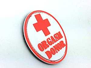 Orgasm Donor PVC Airsoft Velcro Patch