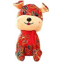 2018 Year Of The Dog Mascot Flower Cloth Dog felpa Toy Doll Puppy, B2 - Peluches y Puzzles precios baratos