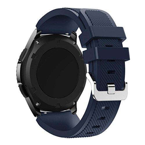 Der Silikonriemen Kompatibel für Samsung Gear S3 Frontier,Kaiki Neue Art- und Weisesport-Silikon-Armband-Bügel-Band für Samsung Gear S3 Frontier (Dark Blue)