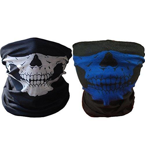 ToBe-U Nahtlose Multifunktions-Half Face Skull Tube Maske für -