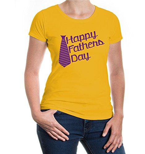 buXsbaum® Girlie T-Shirt Happy Fathers Day Sunflower-Purple