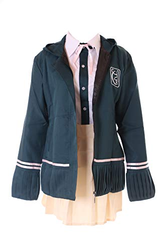 Kawaii-Story MN-56 Chiaki Nanami Danganronpa Uniform 3-TLG. Kostüm Karneval Cosplay Set (L) (Chiaki Nanami Cosplay Kostüm)