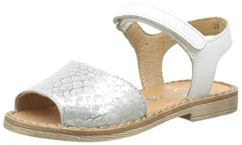 ShoopomMeal Palma - Sandali Bambina , Argento (Argent (Silver/White)), 33