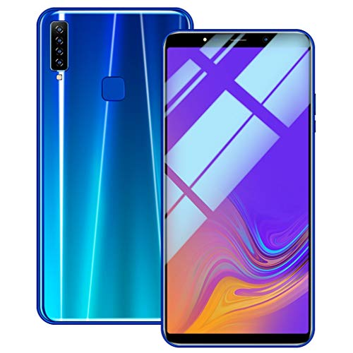 SO-buts A9 Android Smartphone, 6.1 Zoll Achtkern Handy mit Vier Kameras, Dual-Karte Dual-Standby-Handy, maximale Speicher 64G, Dual HDCamera WiFi Bluetooth, (Blau)