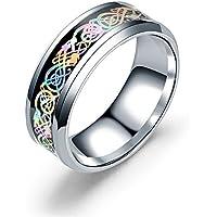 Schmuck Ring Frauen Ring, Mode Edelstahl Drachen Muster Ring Paar Ringe Jelewery Weihnachten Thanksgiving Geschenke by CQSMOO