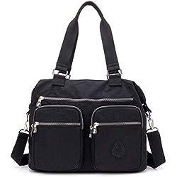 Outreo Bolsos de Moda Mujer Messenger Bag Bolso Bandolera Bolsas de Viaje Escolares Impermeable Bolsos Baratos Mano para Tablet Sport Nylon