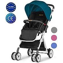 Besrey Silla de paseo ligera para bebes Cochecito de bebe plegable Carrito compacta y manejable,