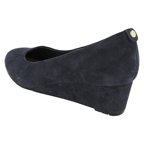 Clarks Damen Vendra Bloom Geschlossene Sandalen mit Keilabsatz Blau