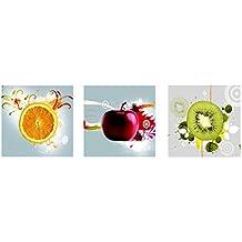3pcs Cuadro Pintura de Pared Impresión de Frutas Moderna de Lona Arte Decoración - Multicolor,