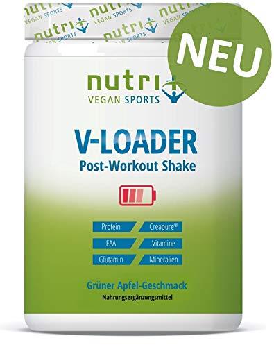 POST-WORKOUT-Shake V-LOADER   Muskelaufbau und Bodybuilding   750g Grüner Apfel Pulver   Maltodextrin   Protein-Pulver   EAA   Creapure ®  Vegan Supplement   Green Apple
