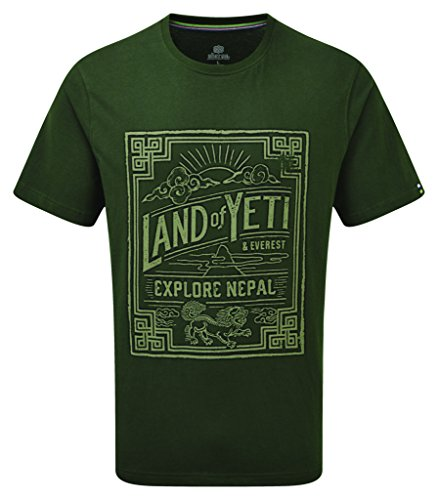 Sherpa Adventure Gear 94 YETI TEE T-Shirt, Mewa, Grün, Größe XL