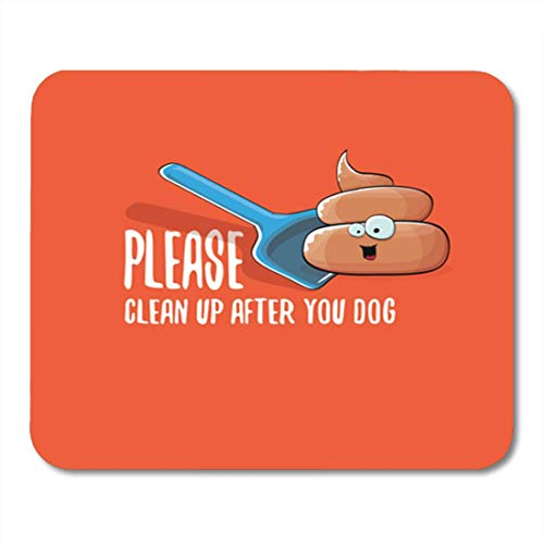 HOTNING Gaming Mauspads, Gaming Mouse Pad Clean Up After Your Dog Cartoon Smiling Poop 11.8