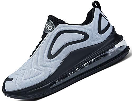 SINOES Hombre 91-219 Caña Baja Gimnasia Ligero Transpirable Casuales Sneakers de Exterior y Interior Zapatillas Deporte Zapatos de Lona Gris 42 EU