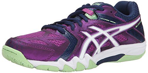 Asics Womens Gel Court Control Volleyball Shoe Grape/Navy/White